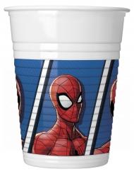 Spider-Man™ - 8 muggar i plast till kalaset 200ml