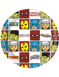 8 kartongtallrikar från Avengers™ 20 cm