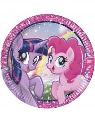 8 kartongtallrikar från Pony & Friends™ - Kalasdukning