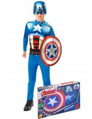Captain America™ - Gåvobox med klassisk dräkt för barn