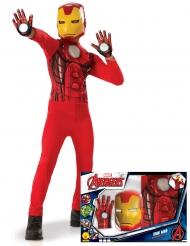 Iron Man™ - Klassisk maskeraddräkt i gåvoförpackning för barn