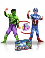 Hulken™ & Thor™ - Dubbelsidig maskeraddräkt för barn i gåvobox