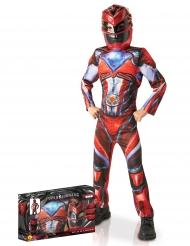 Röd Power Rangers™ - Lyxig maskeraddräkt i gåvobox för barn