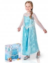 Elsa Frost™ - Lyxig maskeraddräkt i gåvobox för barn