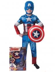 Captain America™ med sköld - Maskeradkläder för barn