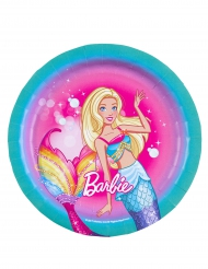 8 små tallrikar i kartong från Barbie Dreamtopia™ 18cm
