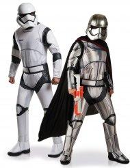 Star Wars™ Stormtrooper och Captain Phasma pardräkt vuxen