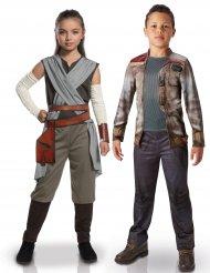 Star Wars™ Rey och Finn pardräkt barn