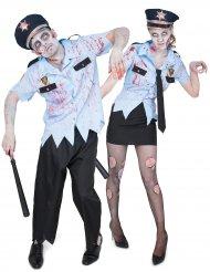Poliskonstaplarna Zombie - Pardräkt till Halloween för vuxna