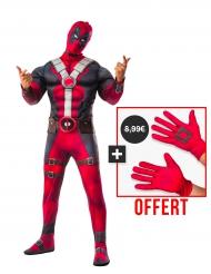 Deadpool 2™ - Lyxigt set med dräkt och handskar