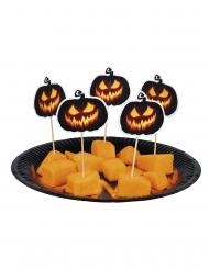 Elak pumpa - Coctailpinnar till Halloweenbjudningen 12 cm