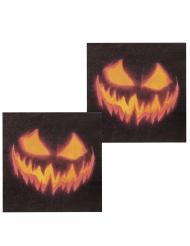 Läskig pumpa -12 servetter till Halloweendukningen