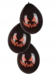 6 Läskiga ballonger - Halloweenpynt 25 cm