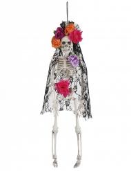 Dias de los muertos änka skelett i 40 cm - Halloween pynt