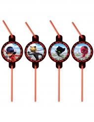 8 sugrör från Ladybug™ - Kalasdekorationer