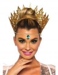 Guldig drottningkrona med juvel