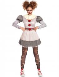 Creepy clown - Halloweenkostym för vuxna