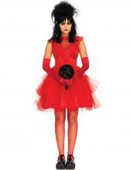 Gotisk brud i rött - Halloweenkostymer för vuxna