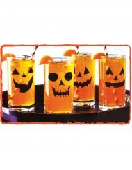 12 pumpastickes för glas - Halloweendukning