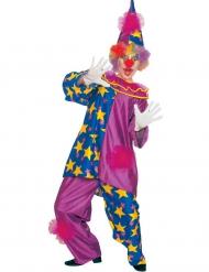 Violett clowndräkt för vuxna till maskeraden