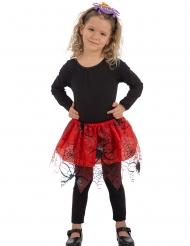 Röd ballerinakjol med spindlar barn