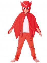 Ugglis™ mantel och mask - Maskeradtillbehör för barn från Pyjamashjältarna™