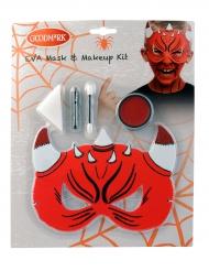 Djävulsmask och smink - Halloween sminkning