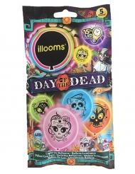 5 De dödas dag ballonger från Illooms™ - Halloweenpynt