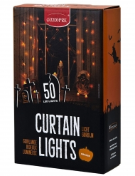 Gardinljus orange LED 50 st