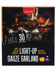 Lysande 30 LED girlang i orange - Halloween pynt
