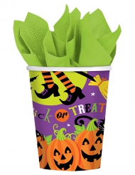 8 Family friendly pappmuggar med Halloweenmotiv 266 ml