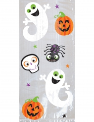 Bus eller godis - Plastpåsar till Halloween 29cm