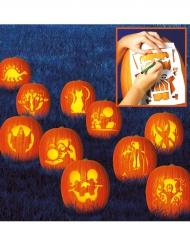 10 schablonder för pumpakarvning - Halloweendekor