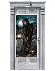 Hemsökt kyrkogårdsdörr dekoration 165x85 cm