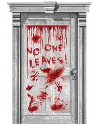 Blodig dörr - Dörrdekoration till Halloween 165 x 85 cm