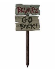 Varning Gå tillbaka! - Halloween pynt