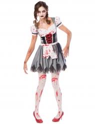 Zombieheidi - Oktoberfestkläder för vuxna till Halloween