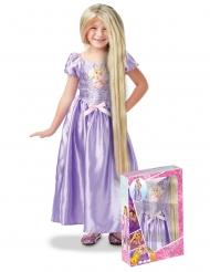 Prinsessan Rapunzel™ - Dräkt för barn med peruk i gåvobox