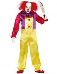 Killer Clown - Halloweenkostym för vuxna