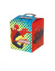 4 Spiderman™ fyrkantiga lådor 9,5x9,5x11 cm