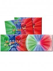 6 inbjudningskort med kuvert från Pyjamashjältarna™ - Kalaskul