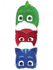 Kattpojken™ - 6 kartongmasker från Pyjamashjältarna™
