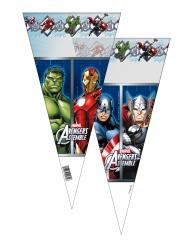 Avengers™ - 6 konformade påsar till kalaset 20 x 40 cm