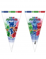 Pyjamashjältarna - 6 konformade plastpåsar till kalaset 20 x 40 cm