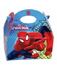 Spider-Man™ - Låda i kartong till kalaset 16 x 10,5 x 16 cm