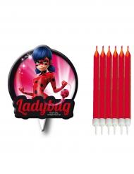 7 tårtljus från Ladybug™ - Kalasdekoration