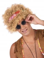 Afro hippie Peruk blond vuxen