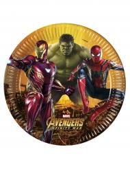 Avengers Infinity War™ - 8 kartongtallrikar 23 cm