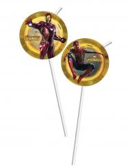 6 Avengers Infinity War™ sugrör med bild