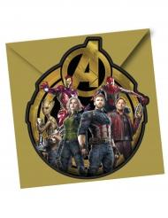 Avengers Infinity War™ - 6 inbjudningskort med kuvert